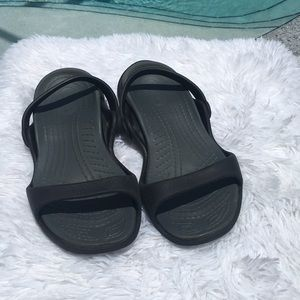 Crocs Size 8 Black Sandals